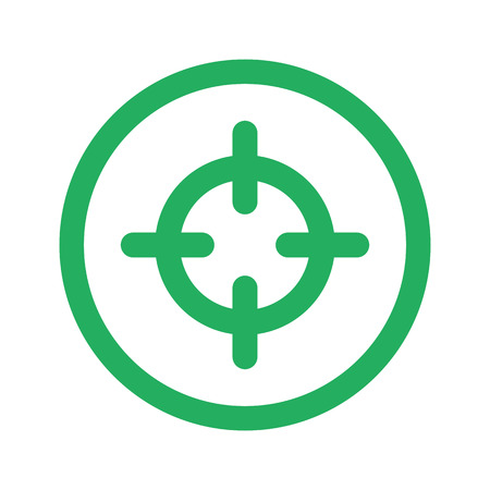 Scope: Flat green Scope icon and green circle Illustration