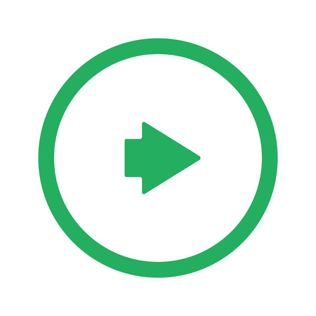 arrow right icon: Flat green Arrow Right icon and green circle