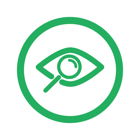 observe: Flat green Observe icon and green circle