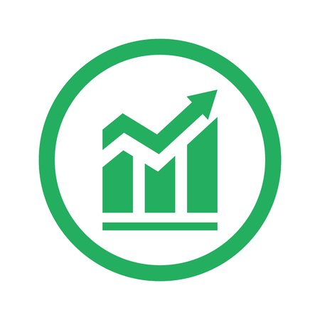 arrow icons: Flat green Trend icon and green circle