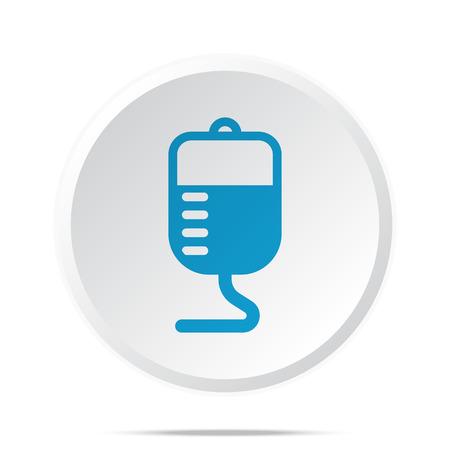 transfusion: Flat blue Transfusion icon on circle web button on white Illustration