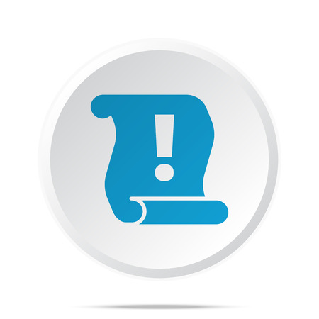 important information: Flat blue Important Information icon on circle web button on white
