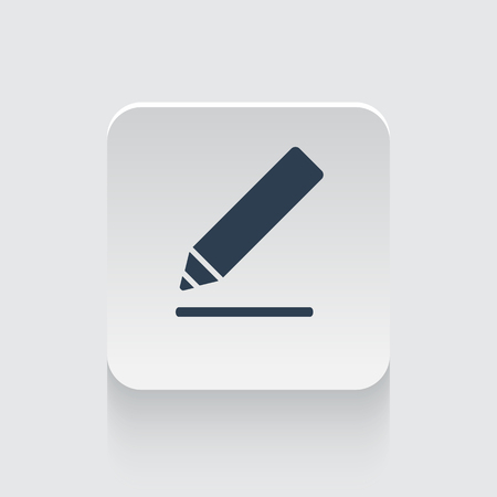 sign here: Flat black Sign Here icon on rounded square web button