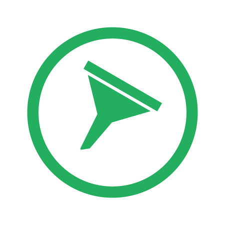 funnel: Flat green Funnel icon and green circle Illustration