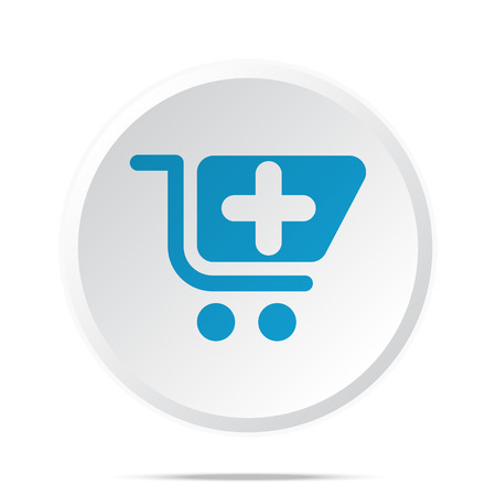 pharmacy store: Flat blue Pharmacy Store icon on circle web button on white Illustration