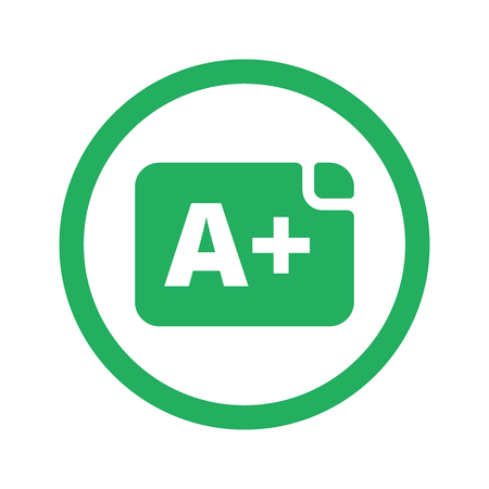 Flat green Rating icon and green circle