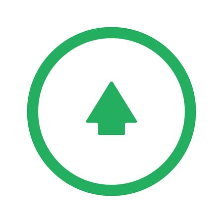 green arrow: Flat green Arrow Up icon and green circle