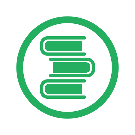 reading app: Flat green Books icon and green circle Illustration
