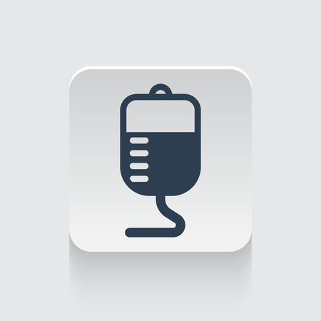 transfusion: Flat black Transfusion icon on rounded square web button
