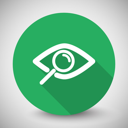 observe: White Observe icon with long shadow on green circle