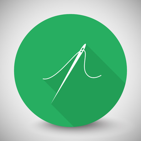 taylor: White Needle icon with long shadow on green circle