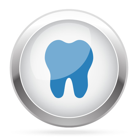 blue tooth: Blue Tooth icon on white glossy chrome app button