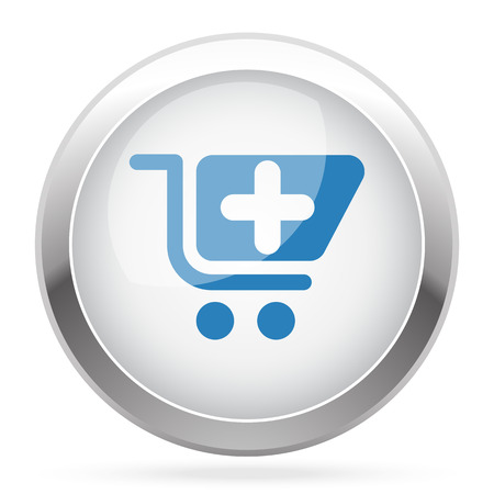 pharmacy store: Blue Pharmacy Store icon on white glossy chrome app button Illustration