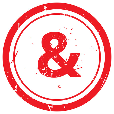 ampersand: Red Ampersand  rubber stamp