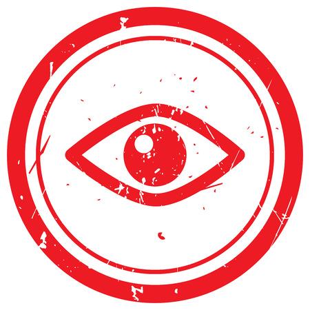 red eye: Red Eye rubber stamp Illustration