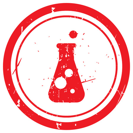 conical: Red Conical Flask rubber stamp