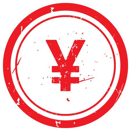 yen: Red Yen rubber stamp