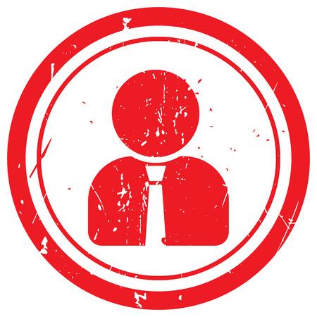 user profile: Red User Profile rubber stamp