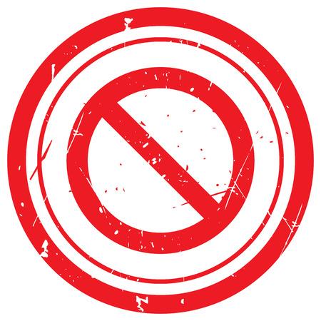 suppression: Red Forbidden rubber stamp Illustration