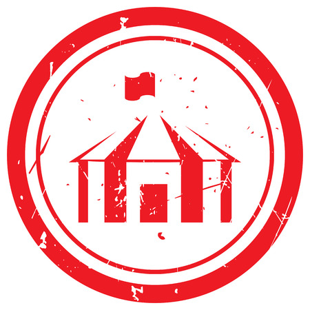 Red Party Tent rubber stamp