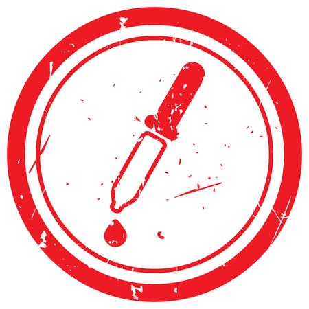 pipeta: sello de goma roja de la pipeta