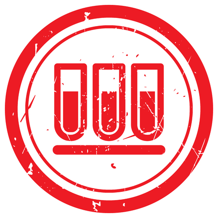 rubber tube: Red Test Tube rubber stamp