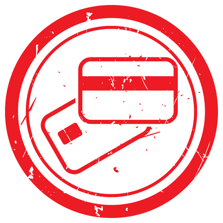 supplier: Red Credit Card Payment rubber stamp Illustration