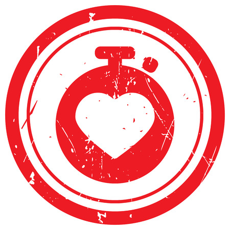 heart monitor: Red Heart Rate Monitor rubber stamp