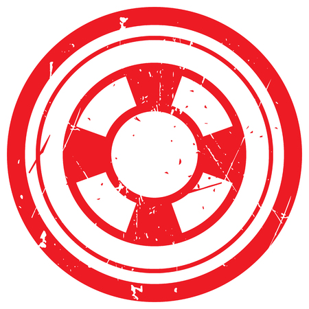 ring buoy: Red Life Buoy rubber stamp