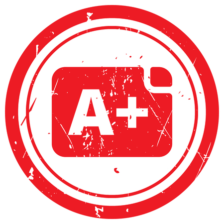 Red Rating rubber stamp