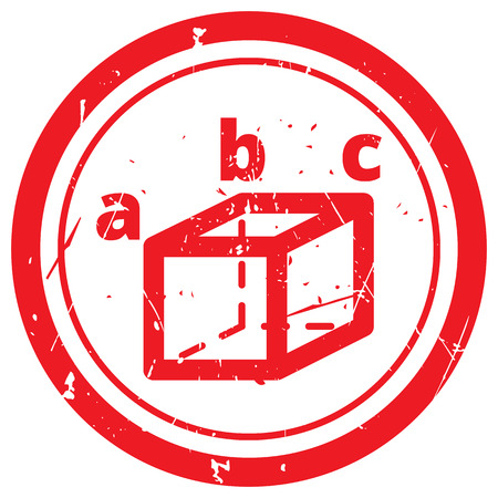 trigonometry: Red Trigonometry rubber stamp