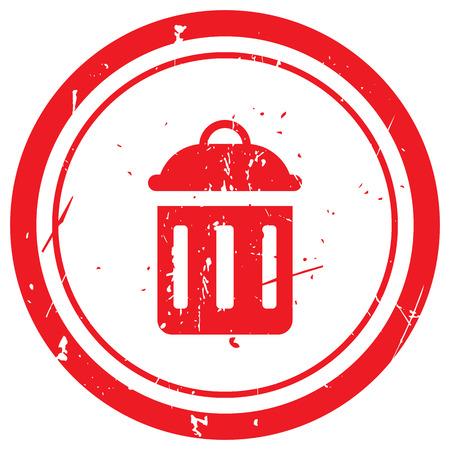 delete: Red Delete rubber stamp