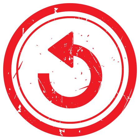 undo: Red Undo rubber stamp