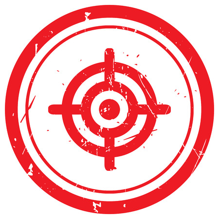 Red Target rubber stamp