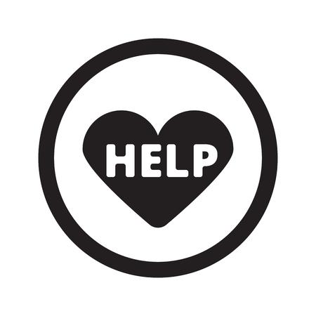 cardioverter: Flat black Defibrillator  web icon in circle on white background