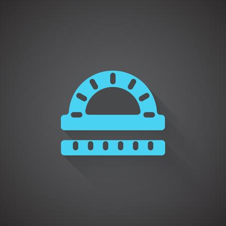 protractor: Flat Protractor Ruler web app icon on dark background