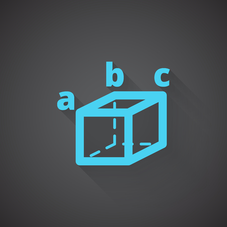 trigonometry: Flat Trigonometry web app icon on dark background Illustration