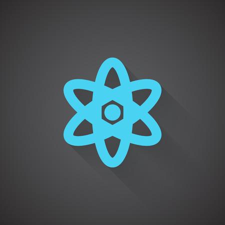 fission: Flat Nuclear web app icon on dark background Illustration