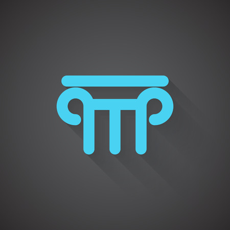 roman pillar: Flat Column web app icon on dark background