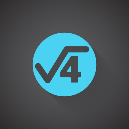 square root: Flat Square Root web app icon on dark background