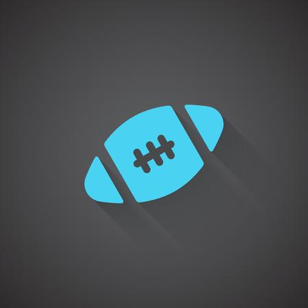glowing skin: Flat American Football web app icon on dark background