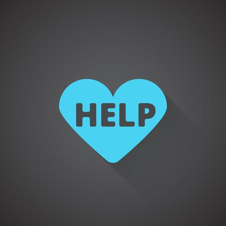 cardioverter: Flat Defibrillator web app icon on dark background