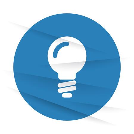 clipart wrinkles: White Light Bulb icon label on wrinkled paper