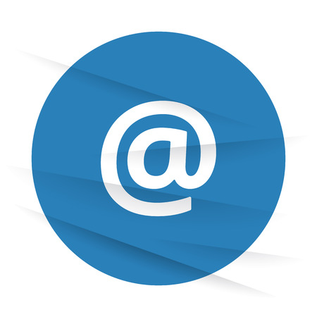 wrinkled paper: White E-Mail icon label on wrinkled paper Illustration