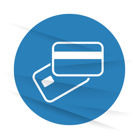 supplier: White Credit Card Payment icon label on wrinkled paper