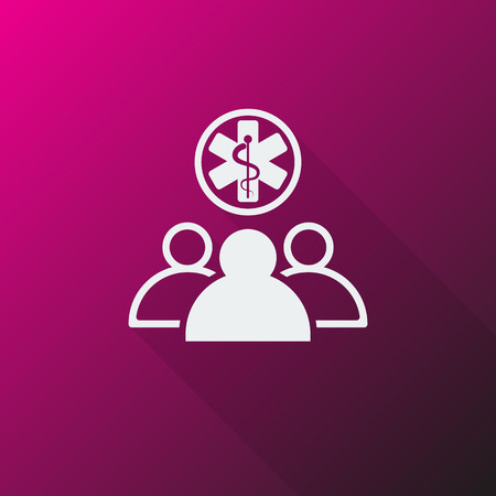 medical team: White Medical Team icon on pink background