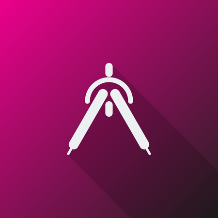 drafting: White Drafting Compass icon on pink background