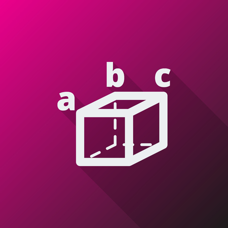 trigonometry: White Trigonometry icon on pink background