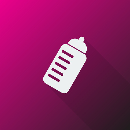thirsty: White Sport Drink icon on pink background
