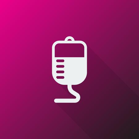 transfusion: White Transfusion icon on pink background